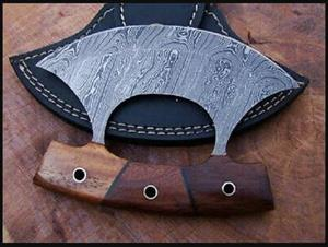 Handmade Damascus Steel ULU Chopping Knife