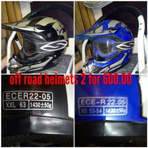 Helmets off road