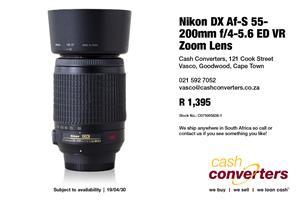 Nikon DX Af-S 55-200mm f/4-5.6 ED VR Zoom Lens