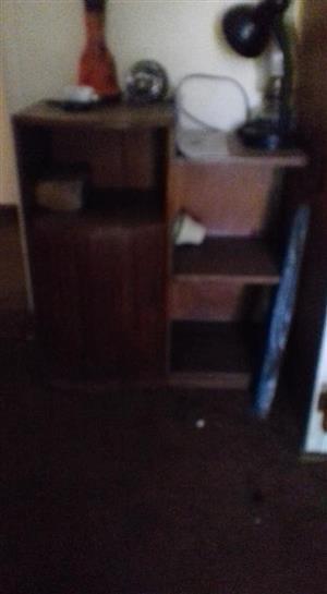 Dark wooden shelf cabinet for sale