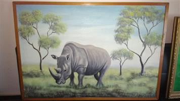 Rhino painting for sale