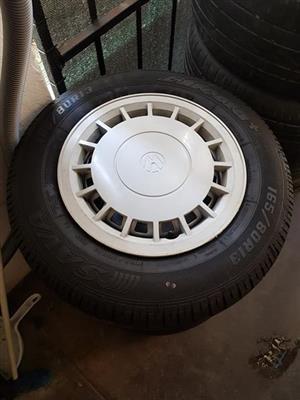 """13"""" vw steelies + tyres"""
