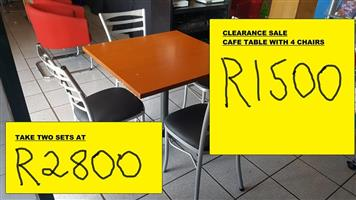 CAFE TABLES WITH 4 CHAIRS FOR SALE