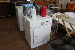 White LG Tumble dryer and kettles