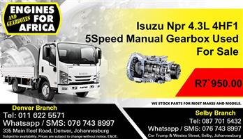 Isuzu Npr 4.3L 4HF1 Engine Used For Sale