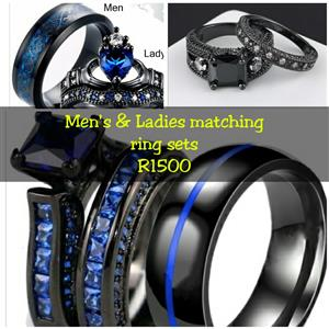 Titanium wedding ring sets