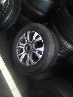18 inch Ford wild track with 265-60-18 Bridgestone tyre for R2000.00.