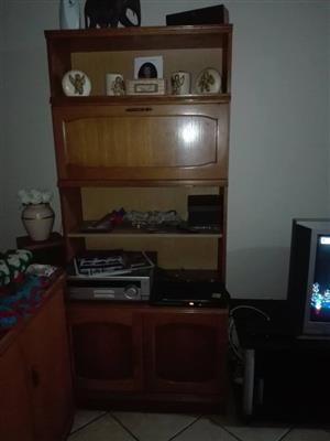 Wooden 1 piece wall unit for sale