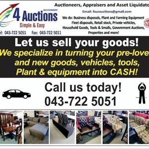 Let us turn you assets into cash hassle free!