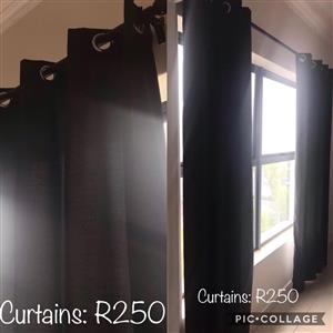 Brown curtains for sale