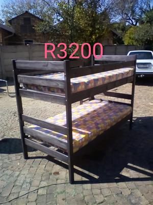 Dark wooden bunk bed for sale