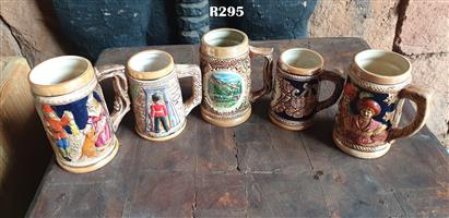 5 x Collectable Beer Mugs