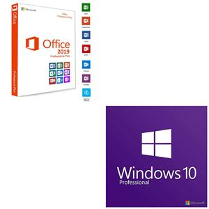 Windows 10 and Microsoft Office 2019 installations.
