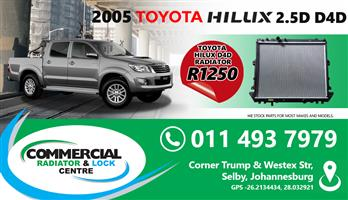 RADIATORS FOR CARS AND BAKKIES AVAILABLE