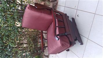 Beautiful vintage Retro imbuia rocking chair.