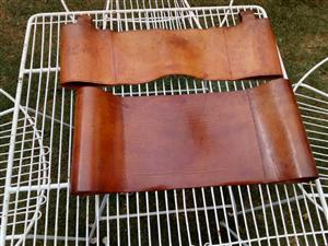 Leather off cutts used (veg)