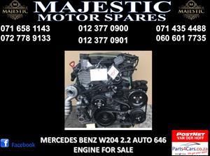 Mercedes benz w204 2.2 auto engine for sale