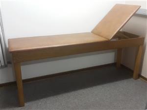 Physical therapy-medical- chiropractor examination treatment couch