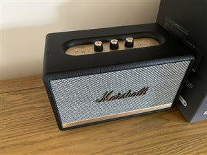 Black Marshall Woburn Bluetooth Speaker System