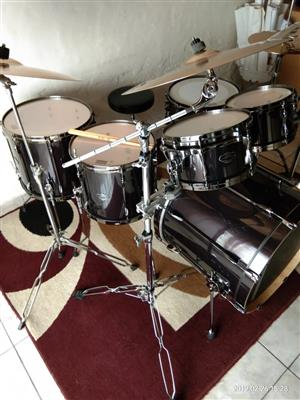 Tama- Super Star Hyper-Drive Drum Kit & Extras For Sale.