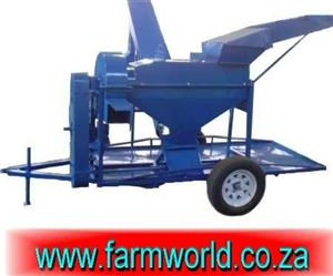 S636 Blue Hippo Maize Thresher 16Hp Diesel With Trailer / Mielie Dorsmasjien 16Hp Diesel Met Sleepwa New Implement