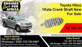 Toyota Hilux 1Kzte Crank Shaft New For Sale.
