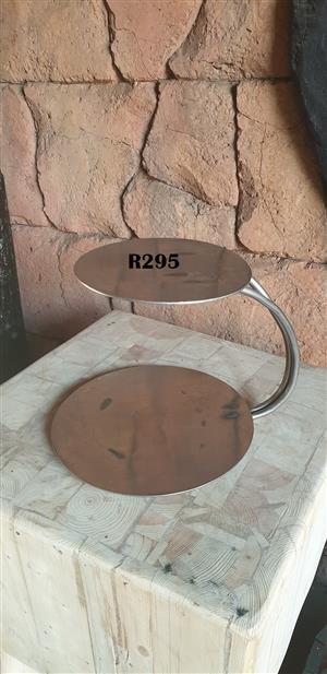 Stainless Steel Cupcake Stand (D 330mm and 250mm)