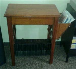 Hand made TV/Magazine stand antique