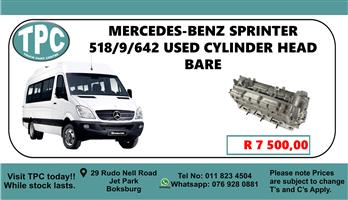 Mercedes-Benz Sprinter 518/9/642 Used Cylinder Head Bare - For Sale at TPC