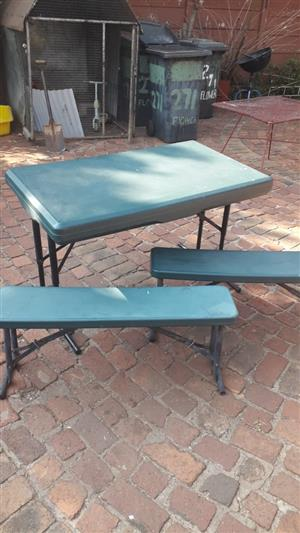 PVC camping table and chairs for sale