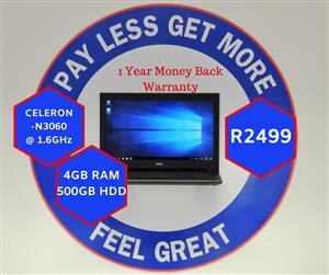 Dell Inspiron 15 & 12 Months Warranty (429)