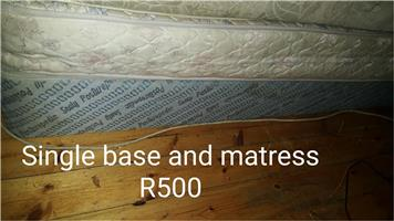 Single base and mattress
