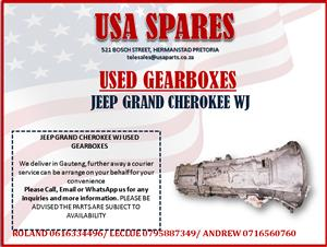 JEEP GRAND CHEROKEE WJ USED GEARBOXES FOR SALE