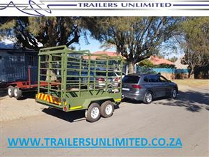 3000 X 1700 X 1800 CATTLE TRAILER. DOUBLE AXLE.