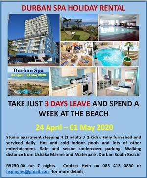 April / May long weekend in Durban