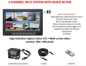 HEAVY DUTY 7 INCH LCD SPLIT 4x CHANNEL SYSTEMS [12V – 24V]