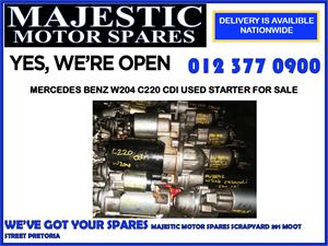Mercedes benz used c220 starter for sale