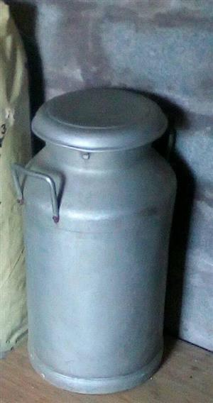 Steel urn with lid for sale