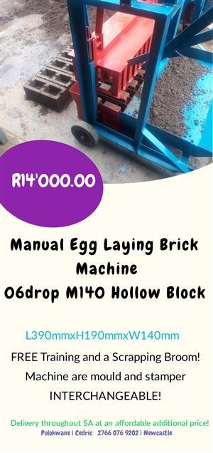 06drop M140 Hollow Block, Manual Egg Laying Brick Machine
