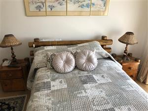 SLEEPER WOOD BEDROOM SUITE WITH BRAND NEW MATTRESS