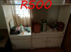 White wooden wall unit for sale