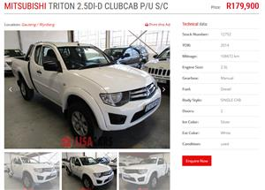 2014 Mitsubishi Triton 2.5DI D ClubCab