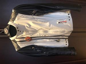 Ladies Harley White Leather Jacket for Sale.