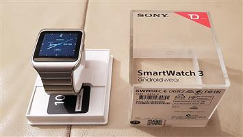Sony SmartWatch 3 ANDROID WEAR in box METAL STRAP