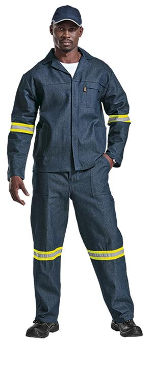 Navy Conti suit overalls D59 Sasol Spec Continental Overalls with Reflective Tape, Acid flame