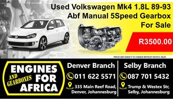 Used Vw Mk5 2.0L 99-02 Abf Manual Gearbox For Sale