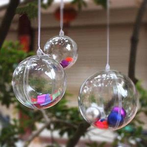 CLEAR Christmas Balls R25 EACH