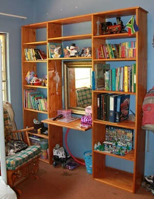 Book Shelves with small built in desk