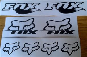 Fox bicycle frame and rim decals stickers vinyl cut graphics