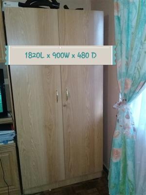 Oak cupboard & Headboard